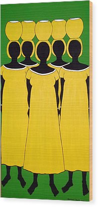 Wood Print featuring the painting Caribbean Yellow by Stephanie Moore