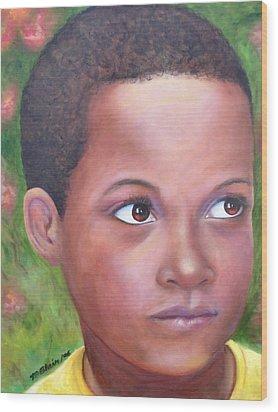 Caribe Child Wood Print by Merle Blair