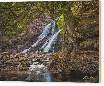 Wood Print featuring the photograph Caribou Falls In Fall by Rikk Flohr