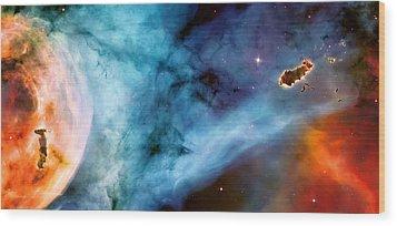 Carina Nebula #5 Wood Print by Jennifer Rondinelli Reilly - Fine Art Photography