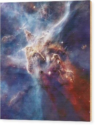 Carina Nebula Pillar Wood Print by Jennifer Rondinelli Reilly - Fine Art Photography
