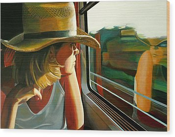 Carla Traveling Wood Print by Jose Roldan Rendon