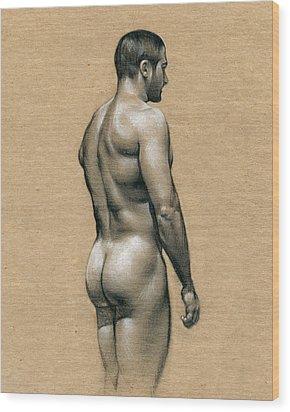 Carlos Wood Print by Chris Lopez