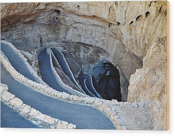 Carlsbad Caverns Natural Entrance Wood Print by Kyle Hanson