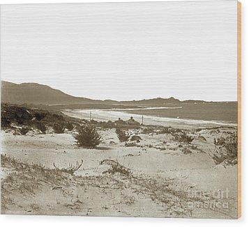 Carmel Beach, Carmel Point And Point Lobos Circa 1925 Wood Print by California Views Mr Pat Hathaway Archives