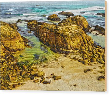 Carmel California - 07 Wood Print by Gregory Dyer