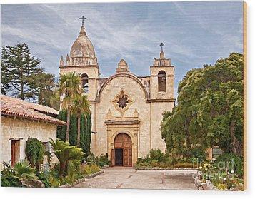 Carmel Mission San Carlos Borromeo Wood Print by Gabriele Pomykaj