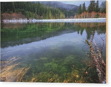 Wood Print featuring the photograph Carmen Reservoir by Cat Connor