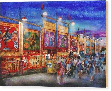 Carnival - World Of Wonders Wood Print by Mike Savad