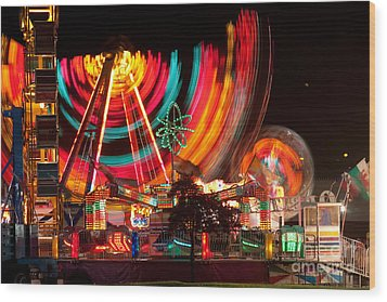 Carnival In Motion Wood Print by James BO  Insogna
