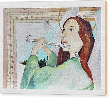 Carol Of The Birds Wood Print