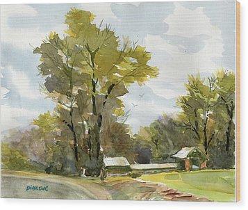 Carolina Farm Field Wood Print