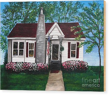 Carolina Home Wood Print by Patricia L Davidson