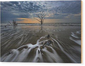 Carolina Lowcountry Wood Print by Rick Berk