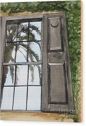 Carolina Reflections Wood Print by Carla Dabney