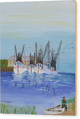 Carolina Shrimpers Wood Print