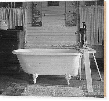 Wood Print featuring the photograph Caroline's Key West Bath by John Stephens