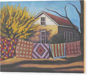 Carolines Quilts Wood Print