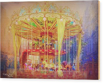 Wood Print featuring the photograph Carousel by Wallaroo Images