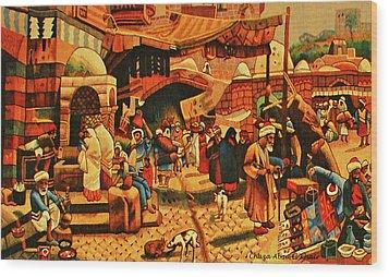 Carpet 2 Wood Print by Chaza Abou El Khair