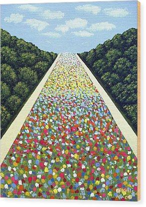 Carpet Of Flowers Wood Print by Frederic Kohli