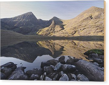 Carrauntoohill Ireland's Tallest Mountain Wood Print by Pierre Leclerc Photography