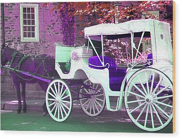 Wood Print featuring the photograph Carriage Ride by Susan Carella