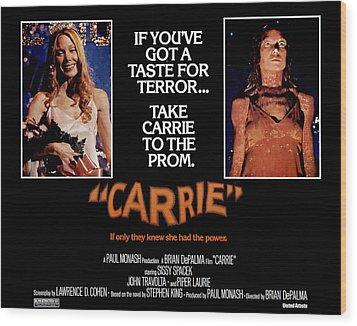 Carrie, Sissy Spacek, 1976 Wood Print by Everett