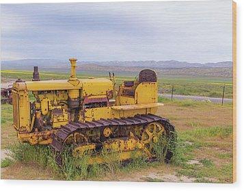 Wood Print featuring the photograph Carrizo Plain Bulldozer by Marc Crumpler