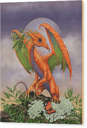 Wood Print featuring the digital art Carrot Dragon by Stanley Morrison