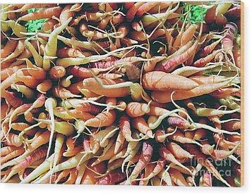Carrots Wood Print by Ian MacDonald