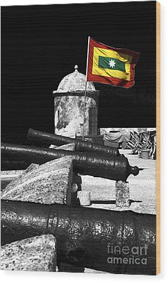 Cartagena Walled City Wood Print by John Rizzuto