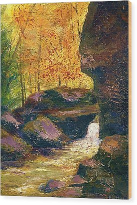 Wood Print featuring the painting Carter Caves Kentucky by Gail Kirtz