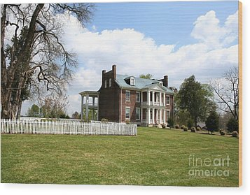Carter House And Carnton Plantation Wood Print