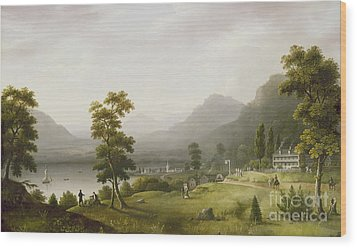 Carter's Tavern At The Head Of Lake George Wood Print by Francis Guy