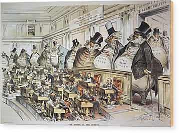 Cartoon: Anti-trust, 1889 Wood Print by Granger