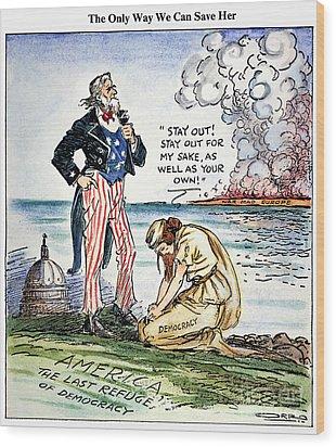 Cartoon: U.s. Intervention Wood Print by Granger