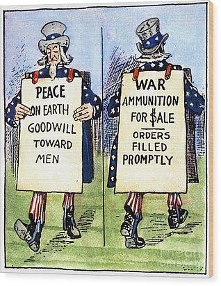 Cartoon: U.s. Neutrality Wood Print by Granger