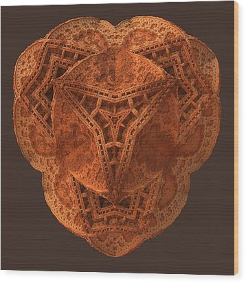 Wood Print featuring the digital art Carved by Lyle Hatch