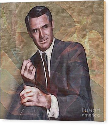 Cary Grant - Square Version Wood Print