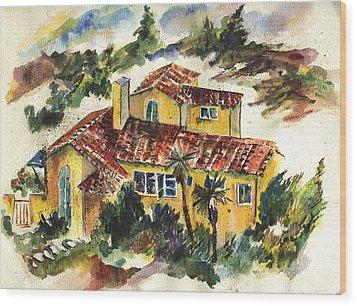 Casa Amarillo Wood Print by Lily Hymen