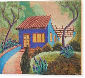 Casa Azul Wood Print