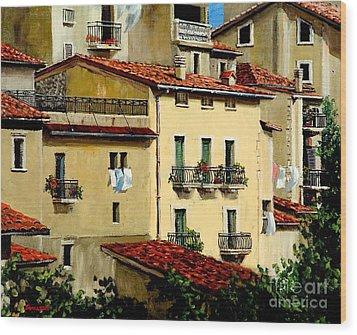 Wood Print featuring the painting Casa Del Sol by Michael Swanson