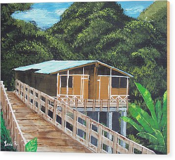 Casa Grande Wood Print by Luis F Rodriguez