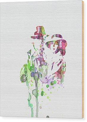 Casablanca Wood Print by Naxart Studio