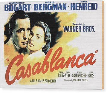 Casablanca Wood Print by Movie Poster Prints