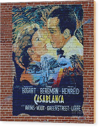 Wood Print featuring the photograph Casablanca Mural 2013 by Padre Art