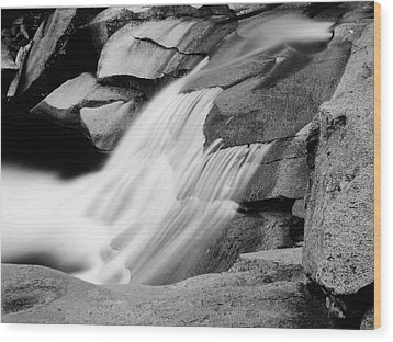 Wood Print featuring the photograph Cascade 2 by Allan McConnell