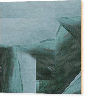Cascade  Aquascape -  Wood Print