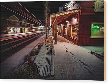 Wood Print featuring the photograph Cascade Avenue by Cat Connor
